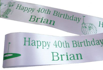 Personalised Golf Ribbon